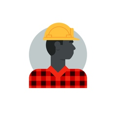 Black man side view construction worker labor vector