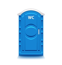 Blue public toilet isolated on white vector image