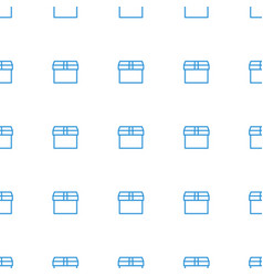 box icon pattern seamless white background vector image