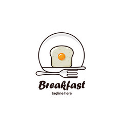 breakfast logo vector image