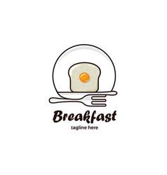 Breakfast logo vector