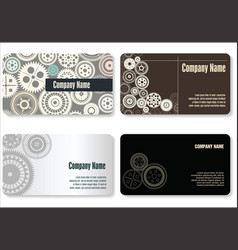 business card gear design vector image
