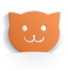 cat icon paper vector image