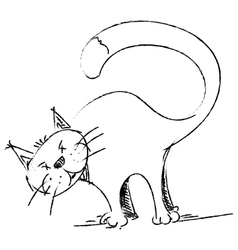 Cat sketch style drawing vector image