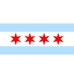 Chicago flag vector