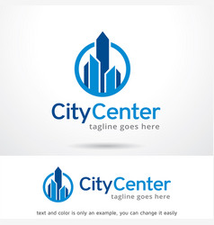 City center logo template design vector