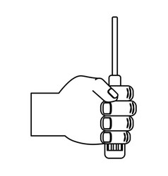 computer screwdriver tool vector image
