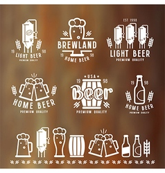 Craft beer brewery emblems vector