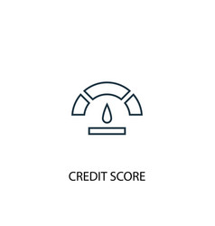 Credit score concept line icon simple element vector