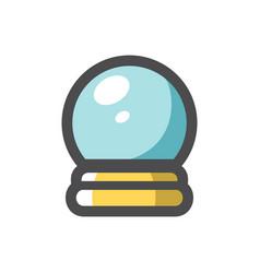 crystal magic ball icon cartoon vector image