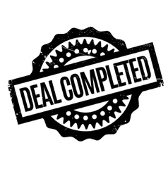 Deal completed rubber stamp vector