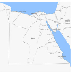 Detailed map egypt vector