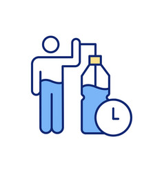 drinking water reminder rgb color icon vector image