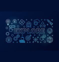 explore blue modern colored horizontal vector image