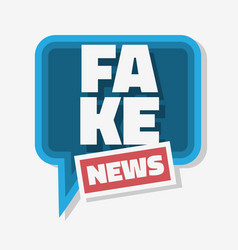 Fake news typographic design with speech bubble vector
