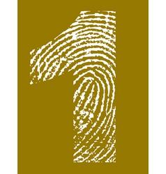 Fingerprint numbers vector