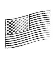 flag united states of america flat design to side vector image