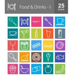 Food and Drinks vector image