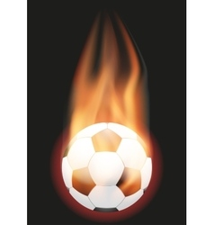 Football Soccer ball with flame vector image