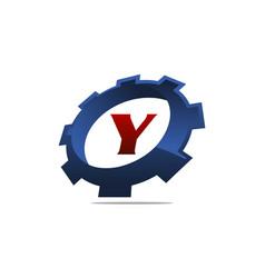 Gear logo letter y vector