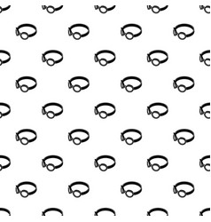 glasses welding mask pattern seamless vector image