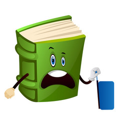 Green book is traveling on white background vector