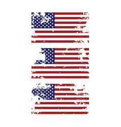 Grunge torn united states america american vector