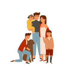 happy big family portrait flat wife vector image