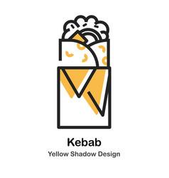 Kebab lineal color vector
