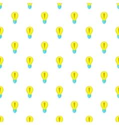 Light bulb idea pattern cartoon style vector image