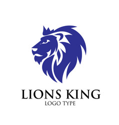lion logo designs vector image