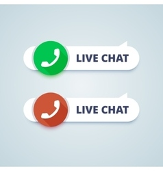 Live chat buttons Online and offline variants vector
