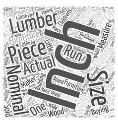 Lumber for furniture word cloud concept vector
