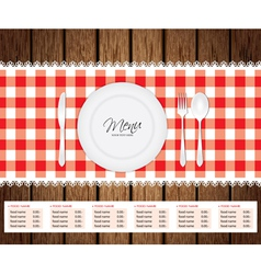 Menu Woode Beckground vector