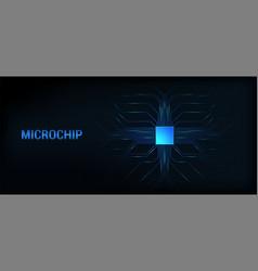 Microchip processor dark background vector