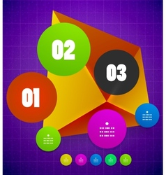 Modern geometrical shape template vector image
