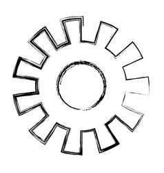 Monochrome blurred silhouette of pinion model one vector