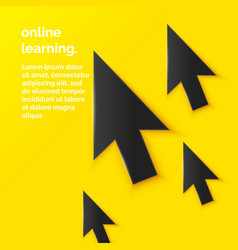 Online education in flat vector