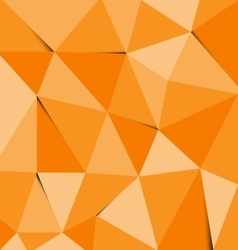 Orange polygon abstract triangle background vector