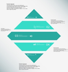 Rhombus infographic template consists of five vector