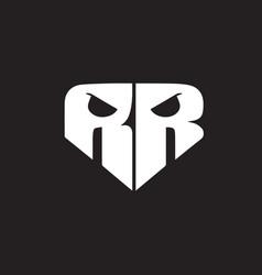 Rr skull logo vector