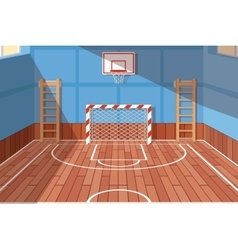 School or university gym hall vector