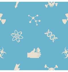 Seamless background with science icons vector image vector image