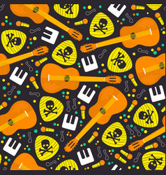 seamless pattern music instruments vector image