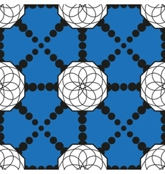 Seamless pattern with geometric shapes and dotted vector