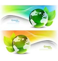 Set of ecology banners vector image