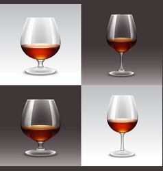 set of wine glasses on background vector image