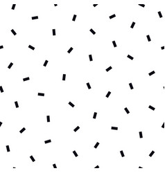 simple seamless pattern with black vector image