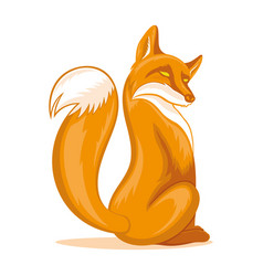 sly orange fox vector image