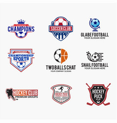 sports logo badges 2 vector image